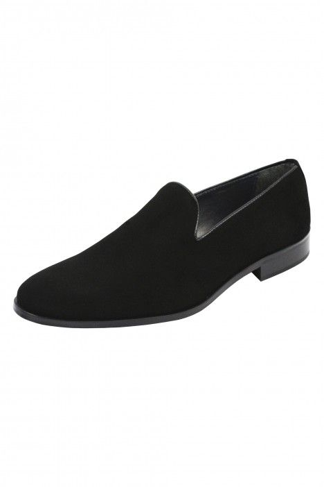 Black TP shoes in velvet.
