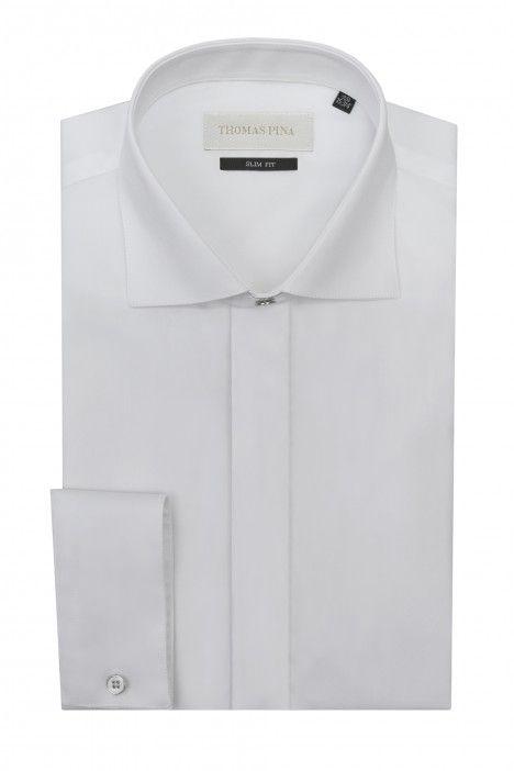 Camicia sposo bianca liscia VARANTA