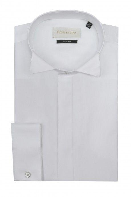 Camicia sposo bianca liscia VIALONE