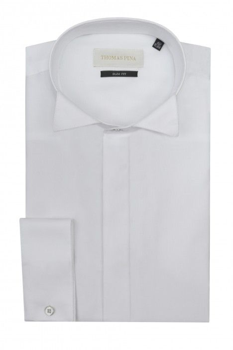 White groom shirt plain VIALONE